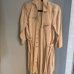 Bebe shirt dress with gold hardware